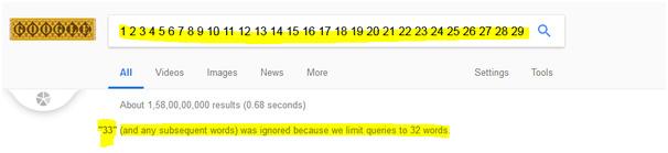 longest google search