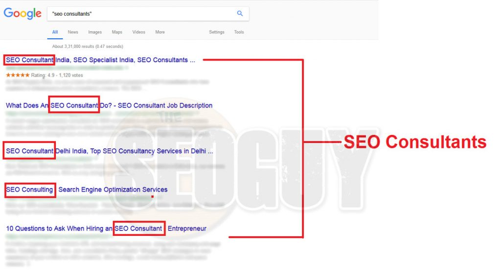 Seo consultants exact match