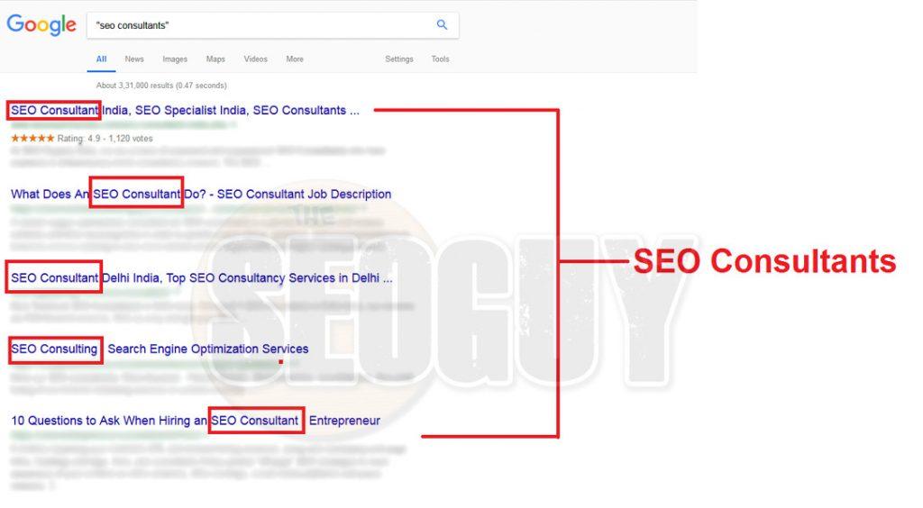 Seo consultants exact match