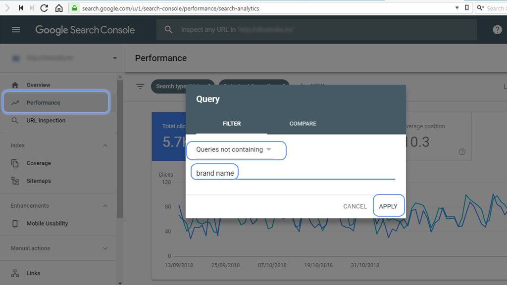 Search Console Performance Step