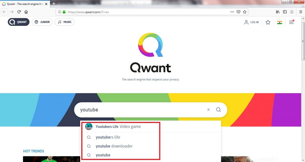 youtube seo tips qwant auto fill