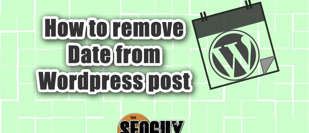 Post Info: How to remove date from Wordpress post