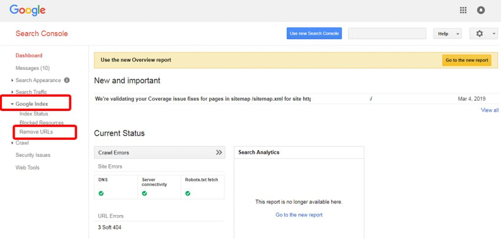 Search Console step 2 - fix 404 errors on your website
