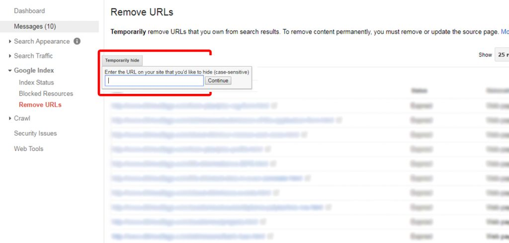 Search Console step 3 - fix 404 errors on your website