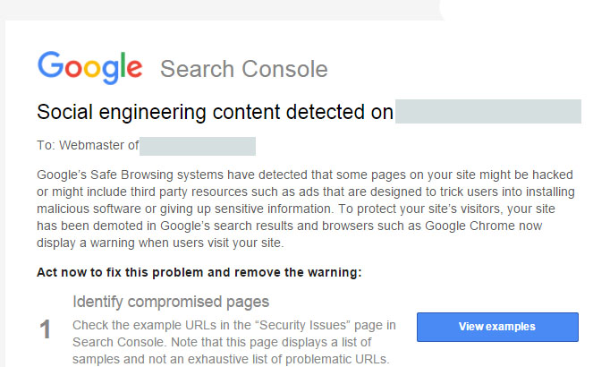 social engineering content detected