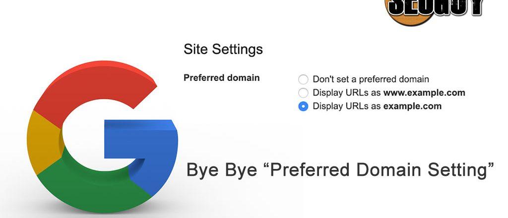 Preferred Domain setting New Google Search Console