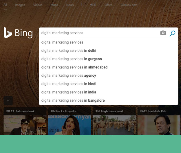 bing keywords