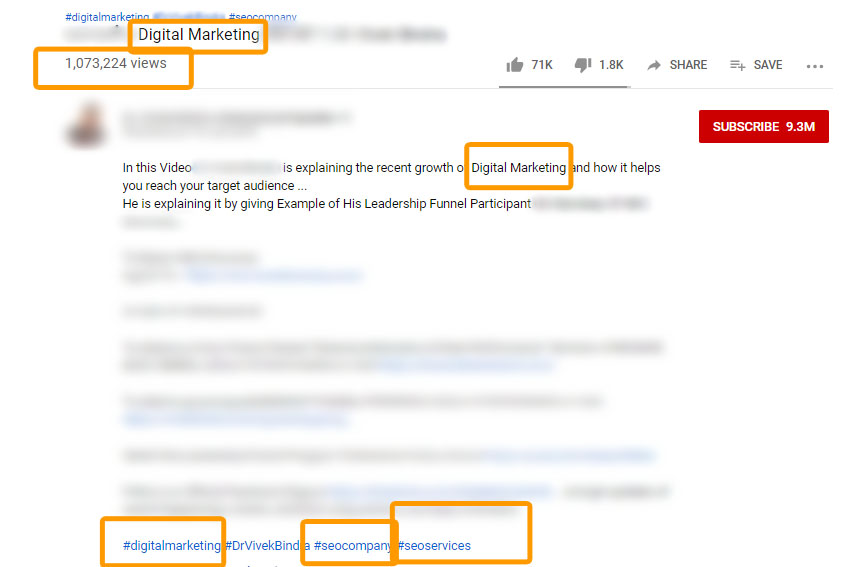 digital marketing youtube seo