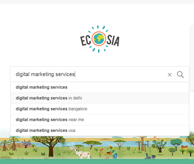 ecosia keywords