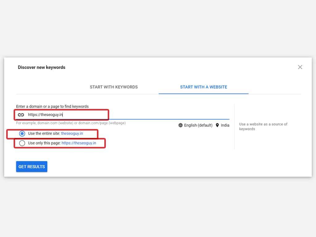 keyword research keyword planner step 3